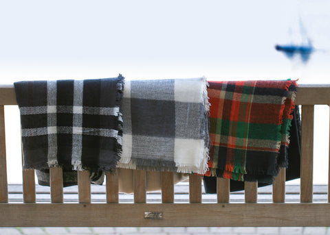 Plaid Oversized Scarf/Shawl