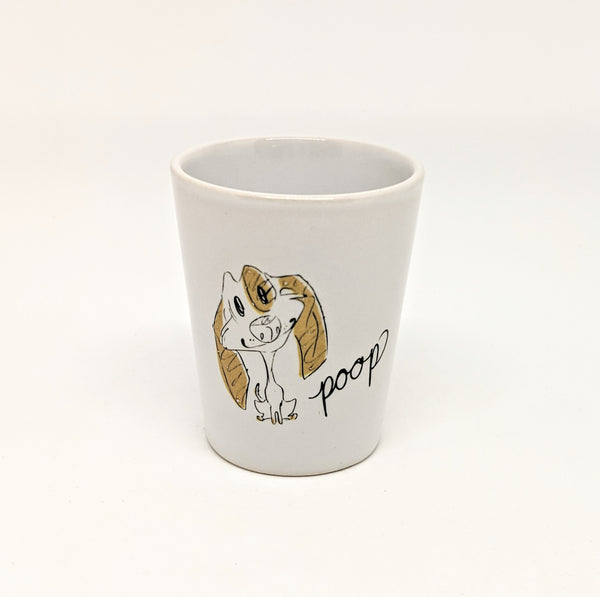 "Dirty Dishes Dog ""Poop"" Shot Glass"