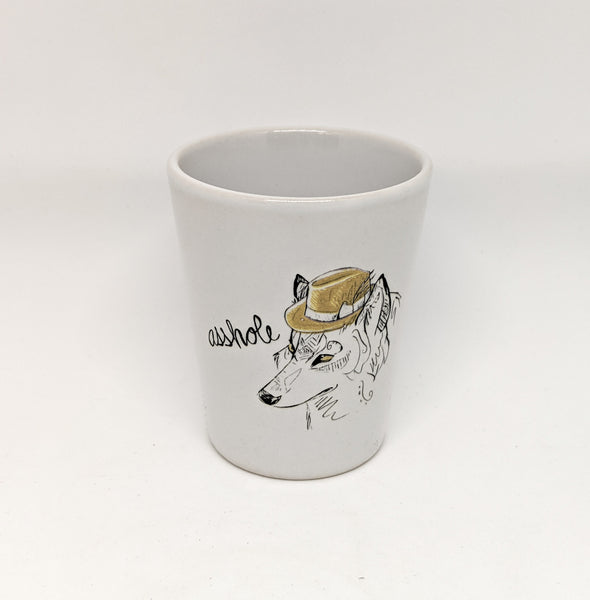 "Dirty Dishes Wolf ""Asshole"" Shot Glass"