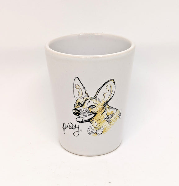"Dirty Dishes Wild Dog ""Pussy"" Shot Glass"