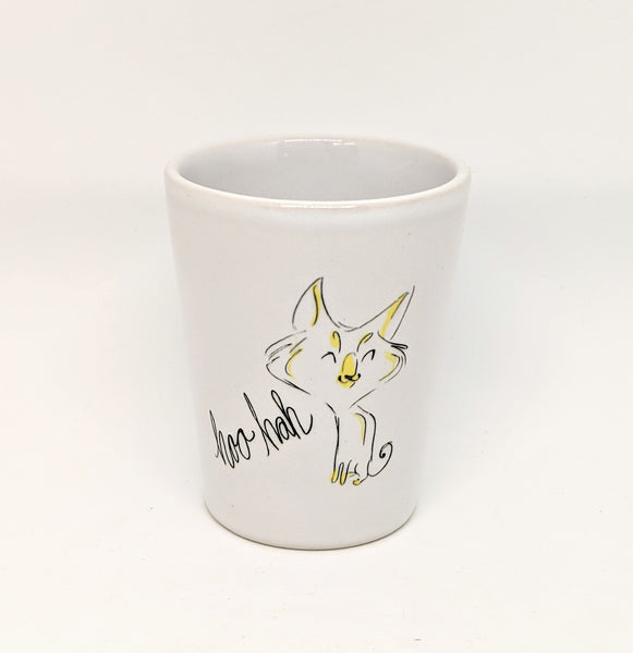 "Dirty Dishes Cat ""Hoo Hah"" Shot Glass"