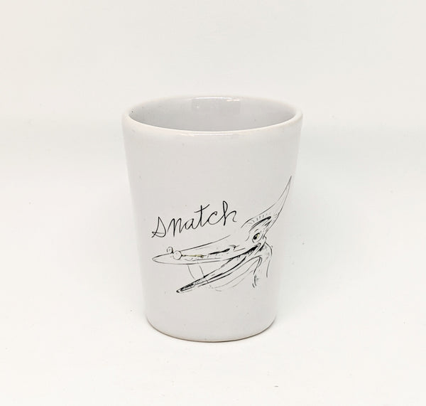"Dirty Dishes Pteranodon ""Snatch"" Shot Glass"