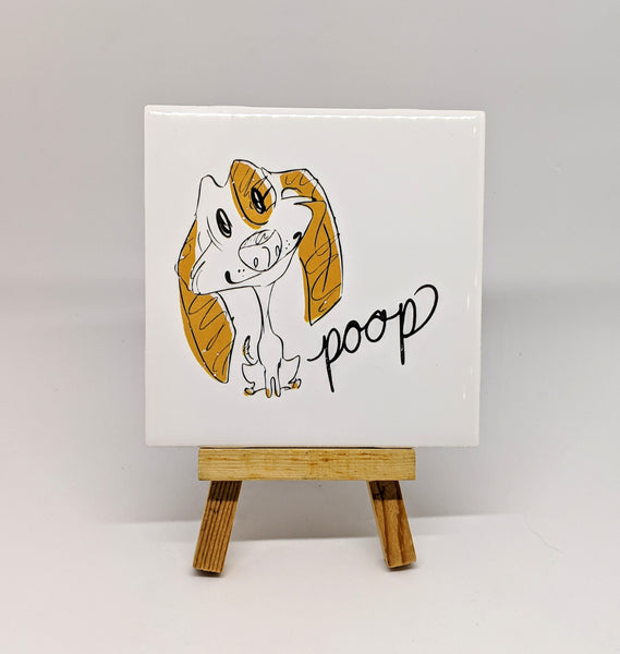 "Dirty Dishes Dog ""Poop"" Coaster"