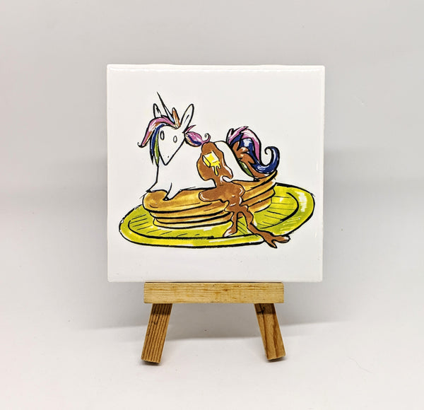 Unicorn Pancakes Coaster