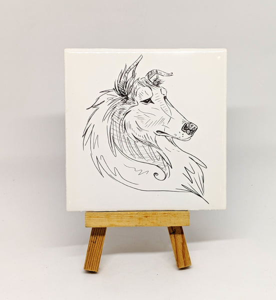 Rough Collie Dog Breed Coaster