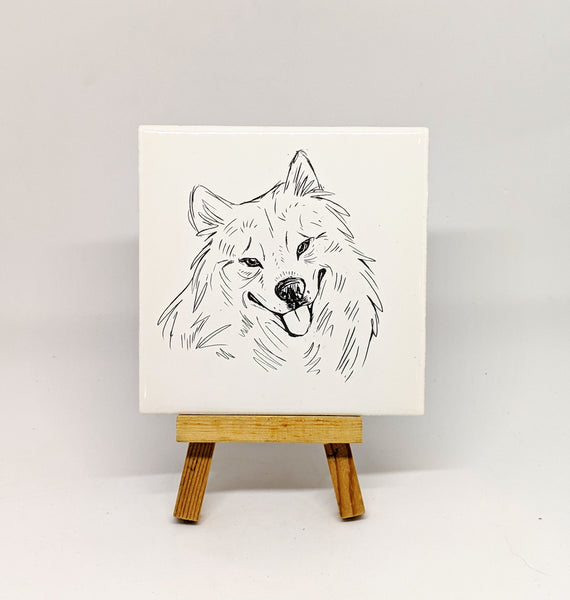 Samoyed Dog Breed Coaster