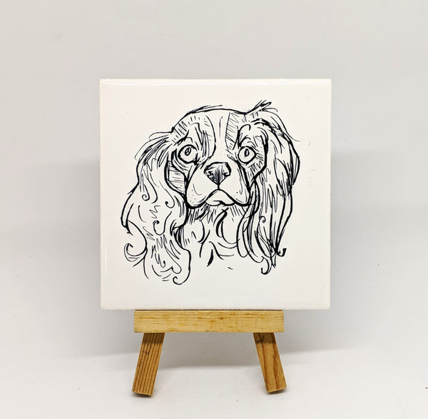 Cavalier King Charles Spaniel Dog Breed Coaster