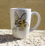 Dirty Dishes Savanna Style-- African Wild Dog Mug