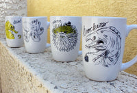 Dirty Dishes Sea Creatures-- Pufferfish Mug