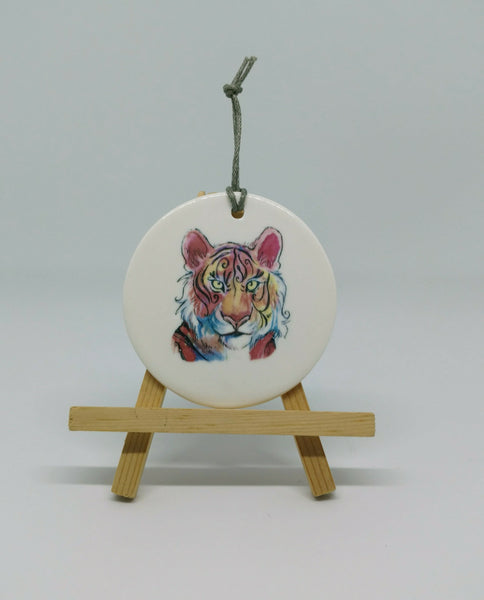 Colorful Tiger Ornament