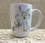 Dirty Dishes Rated G-- Cat mug