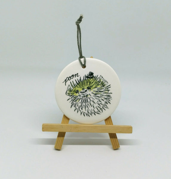 Dirty Dishes Pufferfish Ornament