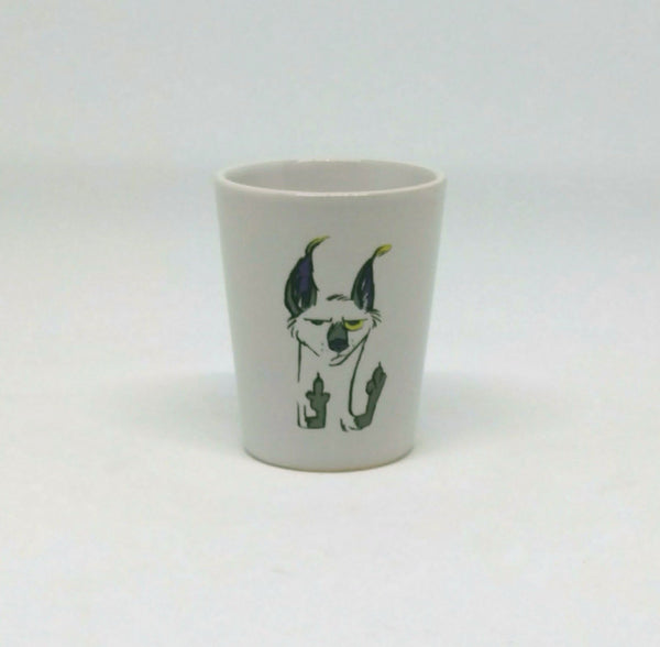 Flip the Bird Shot Glass