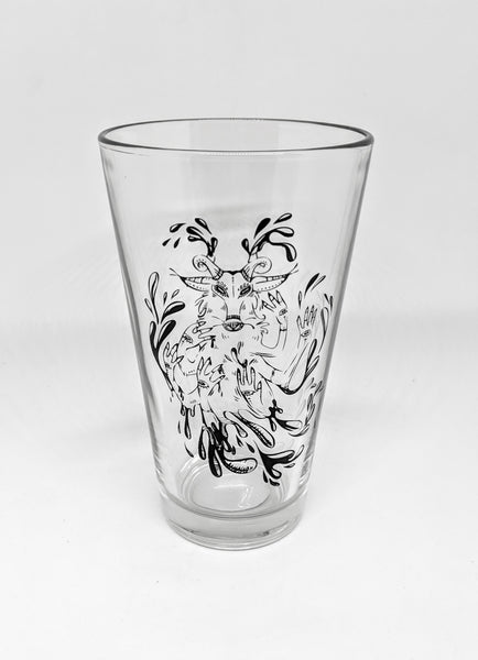 """Undefined"" Goat Pint Glass"