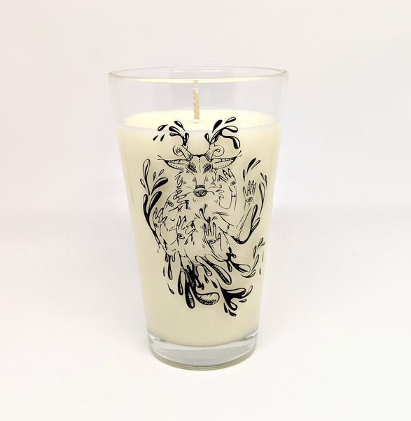 """Undefined"" Goat Pint Glass Candle"