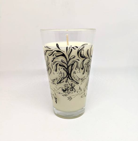 """Share a Life"" Fox Pint Glass Candle"