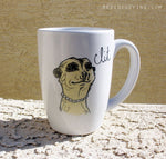 Dirty Dishes Savanna Style-- Meerkat Mug