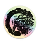 Borzoi Holographic Sticker