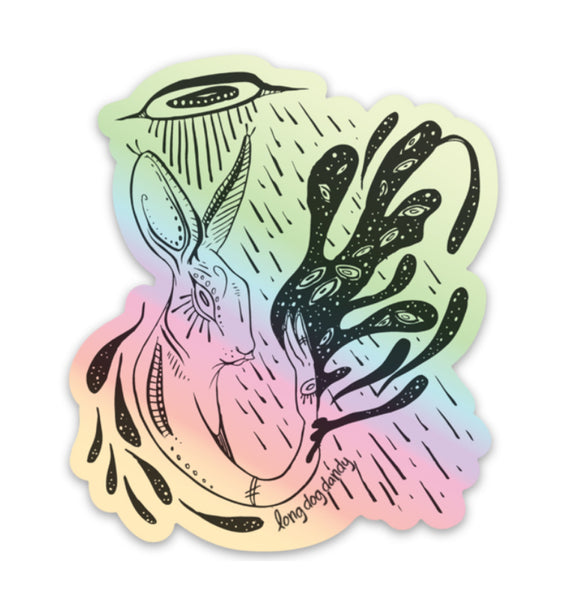 """Ascent"" Rabbit Holographic Sticker"