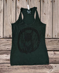 Cat emerald green Tank Top