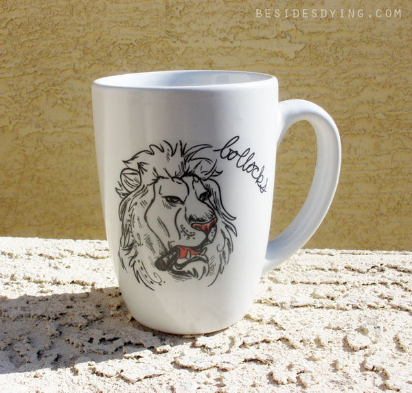 Dirty Dishes Savanna Style-- Lion mug