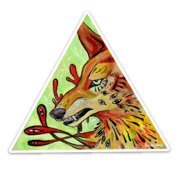 """Before I Do"" Coyote Sticker"
