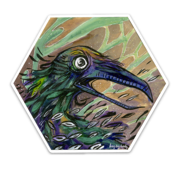 """My, My"" Crow Sticker"