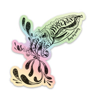 Cuttlefish Holographic Sticker