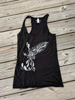 Cuttlefish Black with Silver Metallic Ink Tank Top