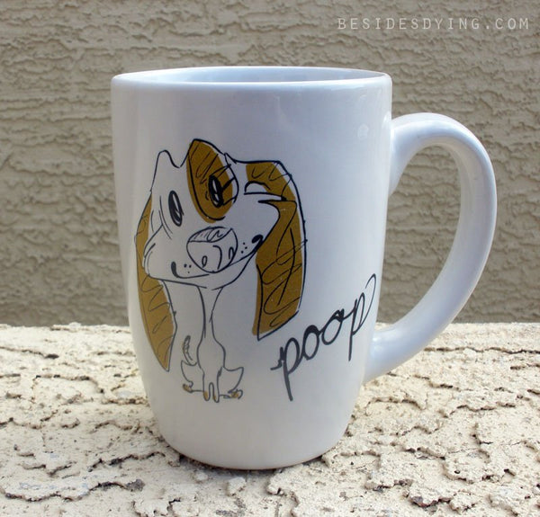 Dirty Dishes Rated G-- Dog mug