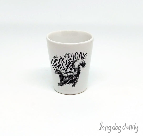 My Favorite Murder Skunk Shot Glass
