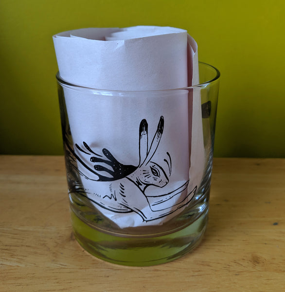 Hare Rocks Glass