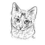 """Traditional""  Digital File Animal Portrait"