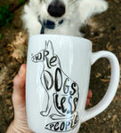 More Dogs Less People Mug