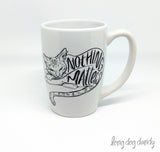 Nothing Matters Nihilist Cat Mug