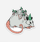 Possum Party Sticker