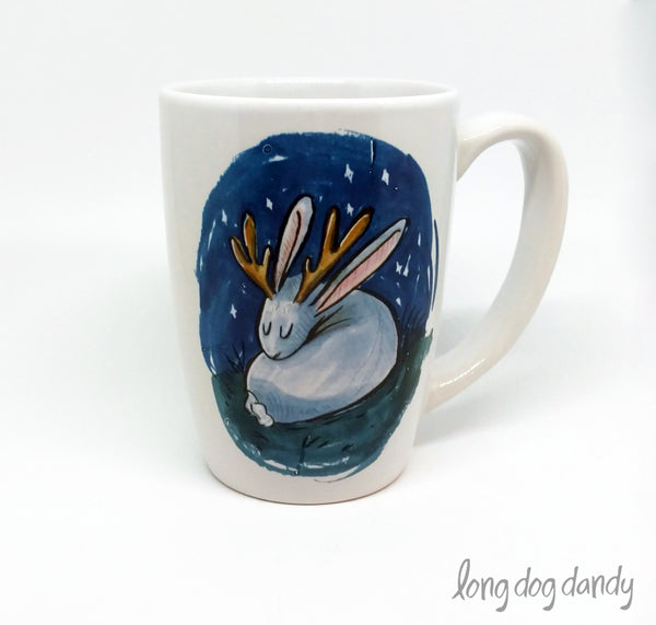 Sleeping Jackalope Mug
