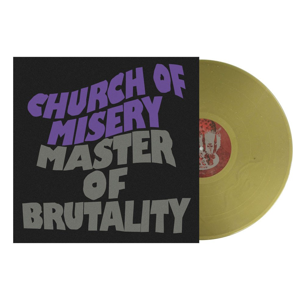 Church Of Misery - Master of Brutality (gold sparkle vinyl)