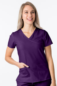 1200 4 Flex Y-Neck Slim Fit Scrub Top By Greentown - Scrub Nation Canada