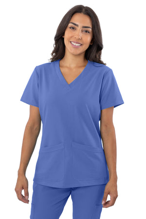 1201 4 Flex V-Neck Scrub top By Greentown - Scrub Nation Canada