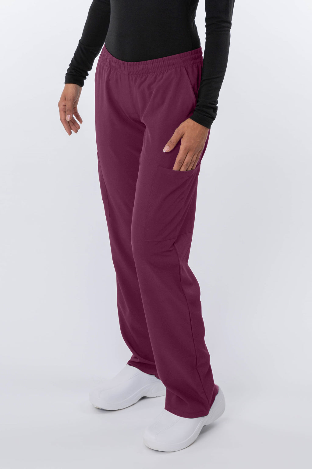 18-1042 Ladies Zinnia Full Elastic Cargo Pant By Greentown - Scrub Nation Canada