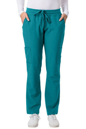 2200 4 Flex Yoga Band Waist Straight Leg Cargo Scrub Pants by Greentown - Scrub Nation Canada