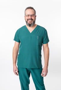 1202 Men's Scrub Top by Greentown - Scrub Nation Canada