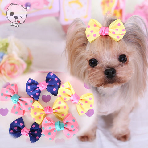 Yorkshire Terrier And Poodle Hair Accessories Pet Grooming Accessories Hairpin Bows Dogs Charms Cute Princess Headwear Headband