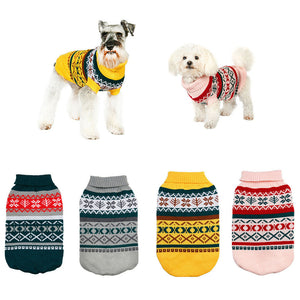 winter warm dog coat jumpsuit christmas sweater for small dogs
