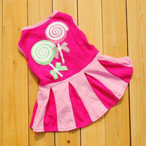 Princess Lollipop T-shirt Dress for Small Dogs