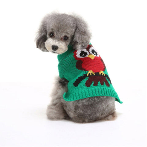 Owl pet clothes sweater dog jacket winter warm Pet Dog