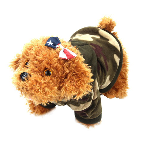Camo Hoodie Sweater for Small Dogs