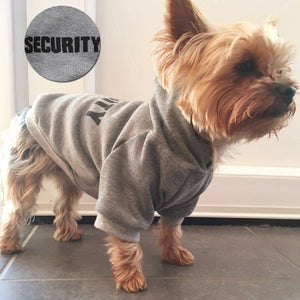 Small dog on pawtrol - grey 'security' hoodie