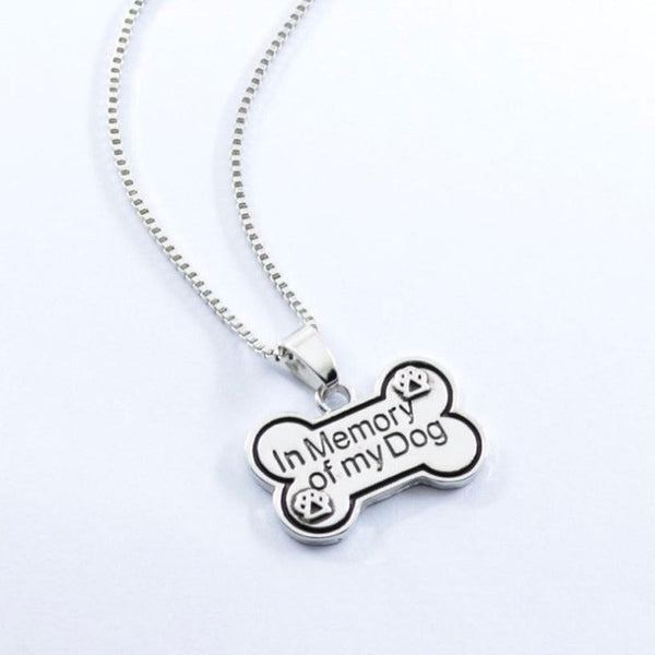 In Memory of my Dog Pendant Necklace